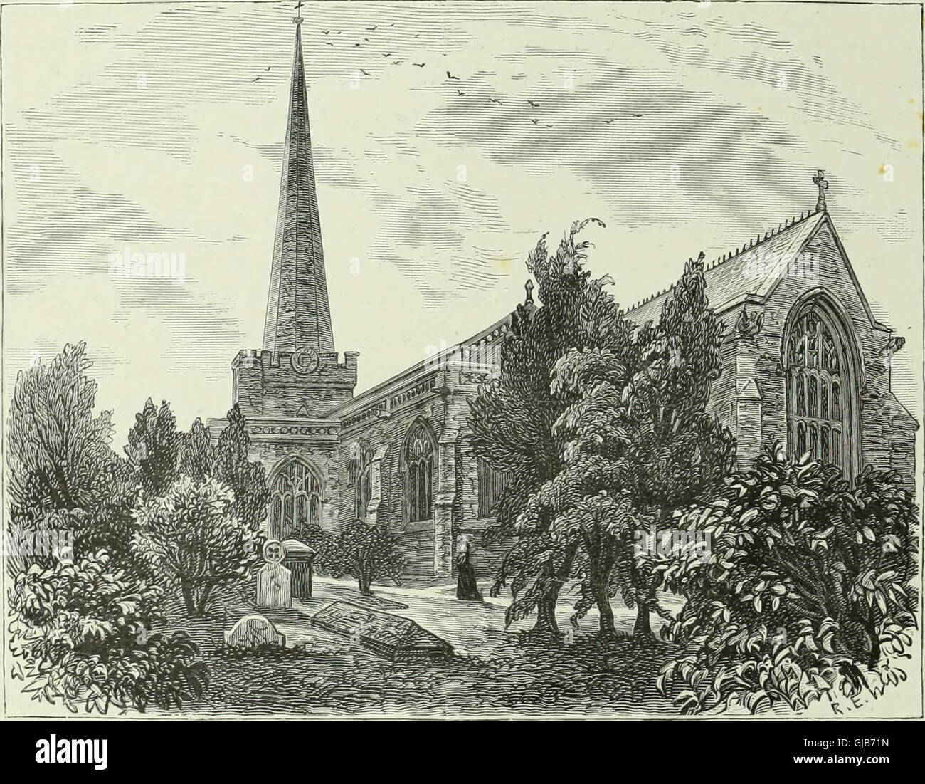 Cathedrals, abbeys and churches of England and Wales - descriptive, historical, pictorial (1890) Stock Photo