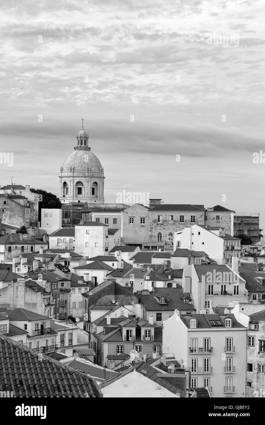 Lisbon, Portugal - June 5, 2016. Cityscape at the Alfama District - Stock Image