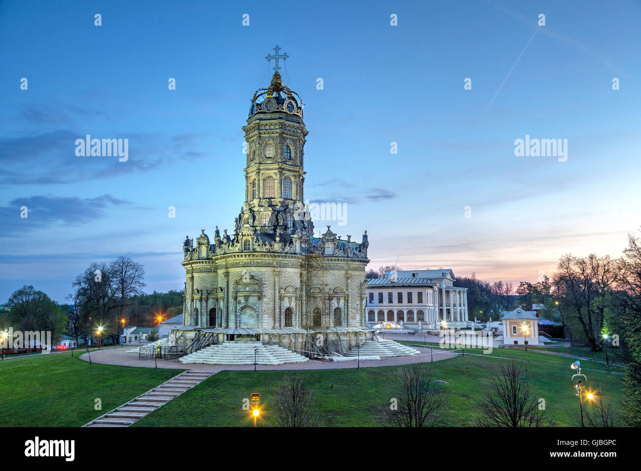 Znamenskaya church in Dubrovici, Moscow region - Stock Image