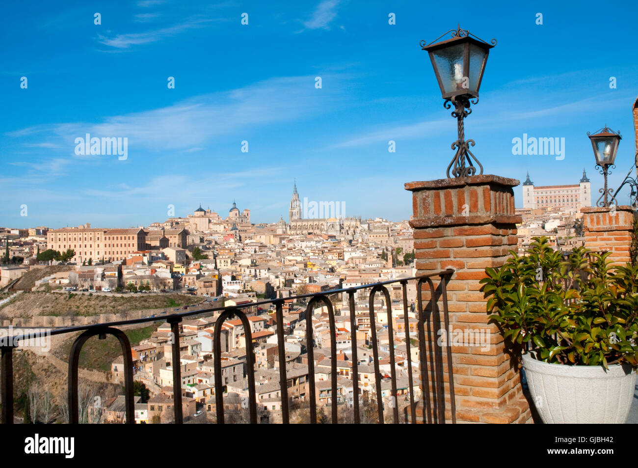 Overview from viewpoint. Toledo, Spain. - Stock Image