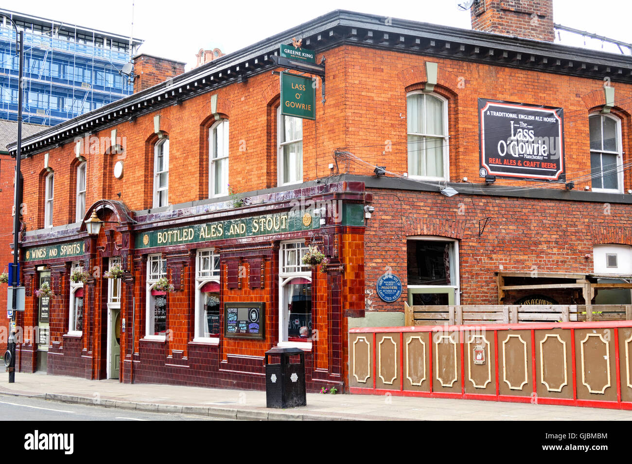 Lass O Gowrie pub, 36 Charles St, Manchester, North West England, UK,  M1 7DB - Stock Image