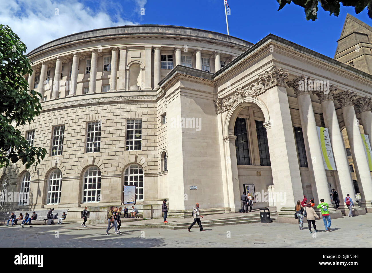 Manchester Central Library, St Peters Square, North West England, UK, M2 5PD - Stock Image
