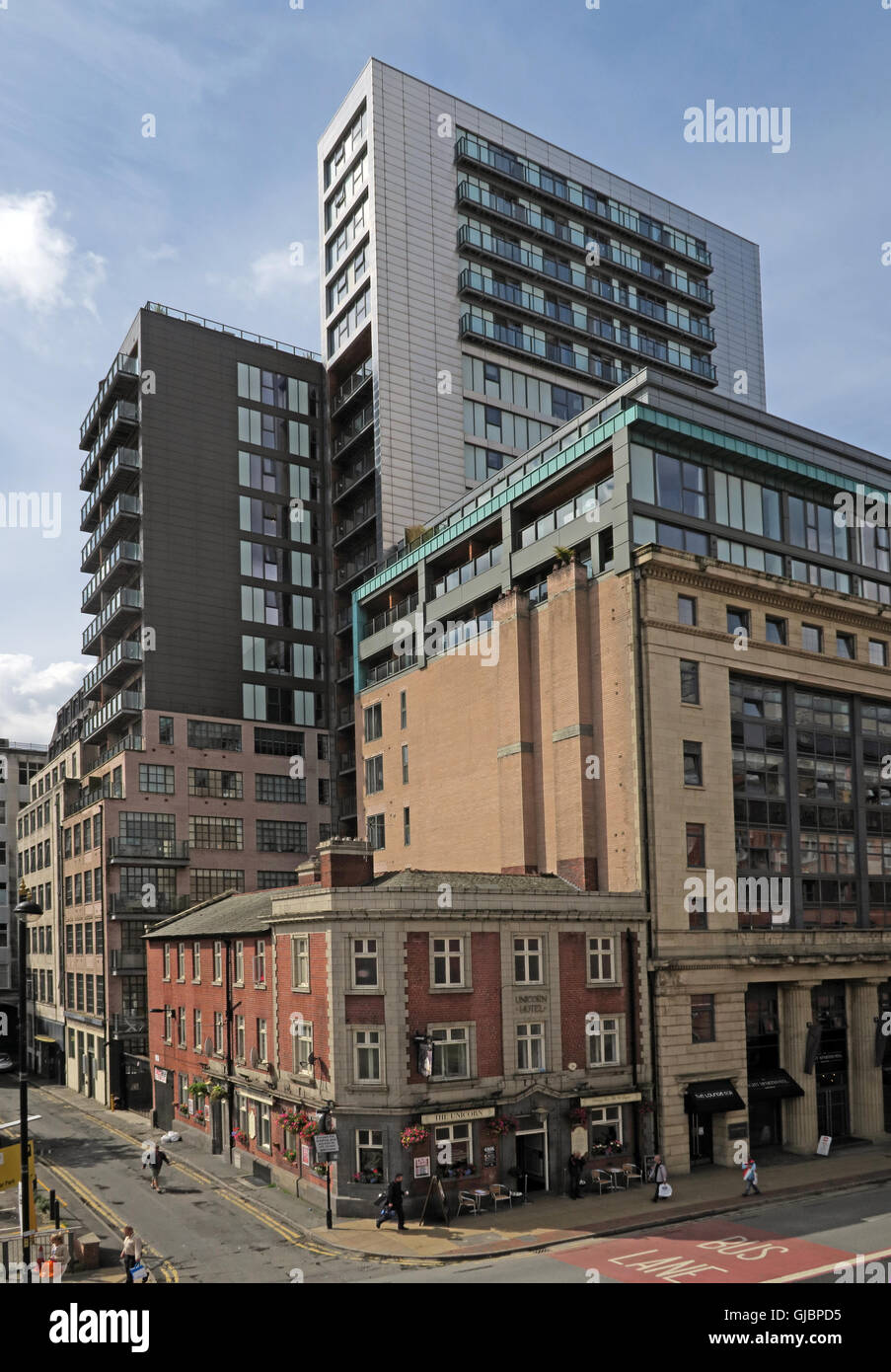 The Unicorn Hotel, 26 Church Street, Manchester, North West England,M4 1PW - Stock Image