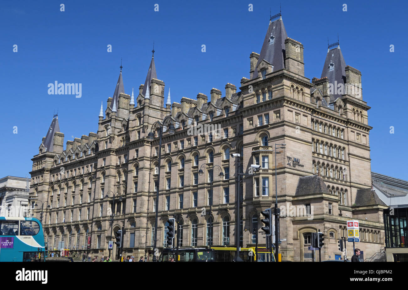 North Western Hall building, former North Western Hotel, Lime Street, Liverpool, Merseyside, North West England - Stock Image