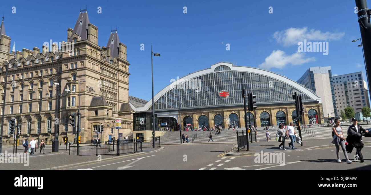 Liverpool Lime Street, mainline railway station, city centre Liverpool, Merseyside, England - Stock Image