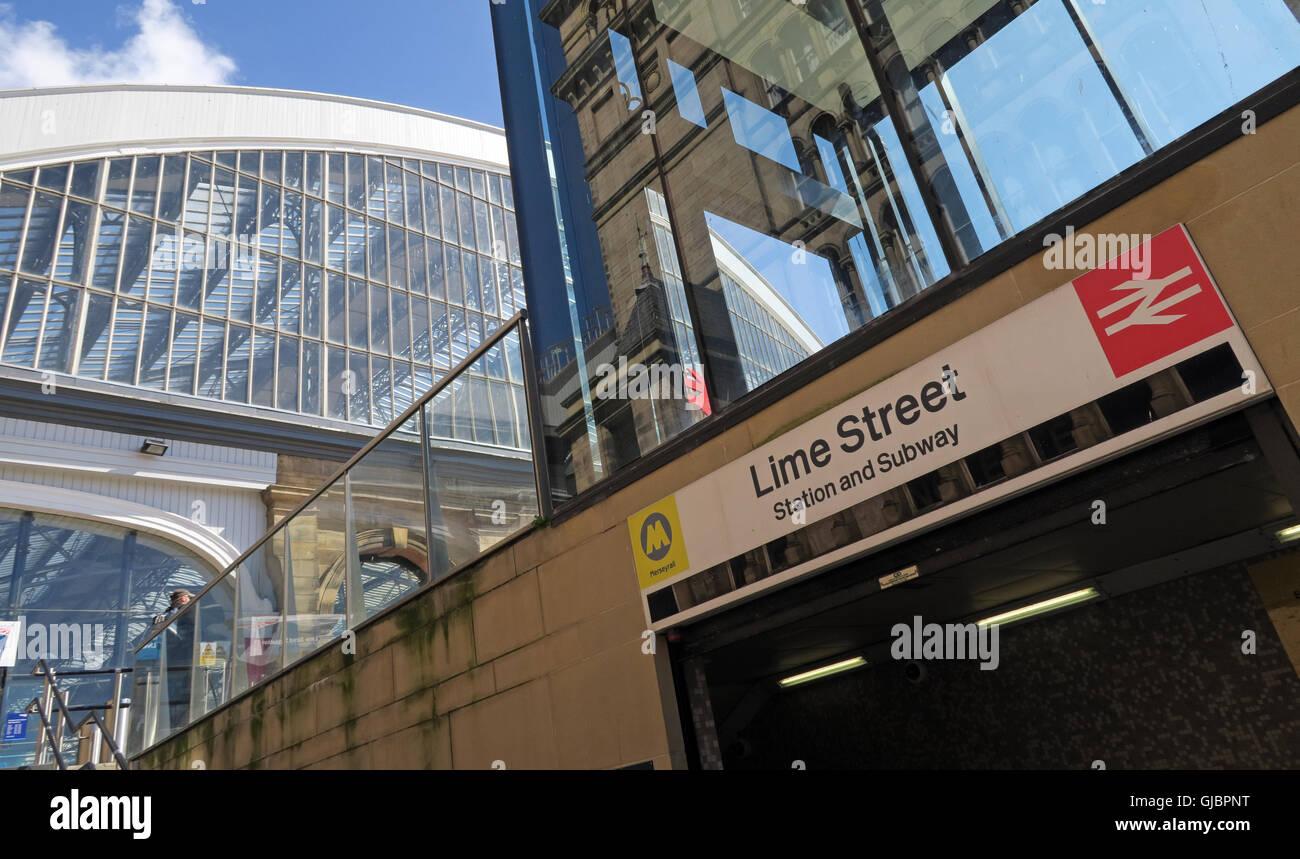 Liverpool Lime Street, mainline railway station, city centre Liverpool, Merseyside, England - Stock Image