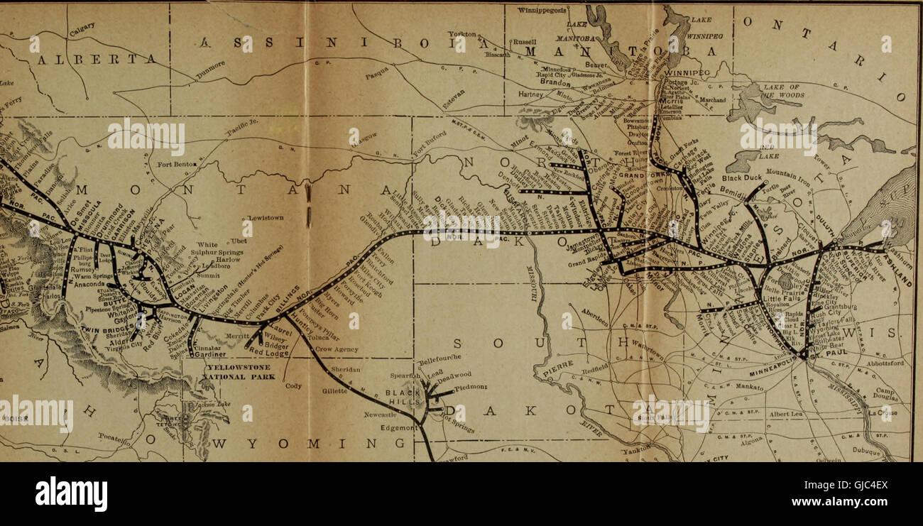 Northern Pacific Yellowstone Park Line - St. Paul, Minneapolis Stock ...