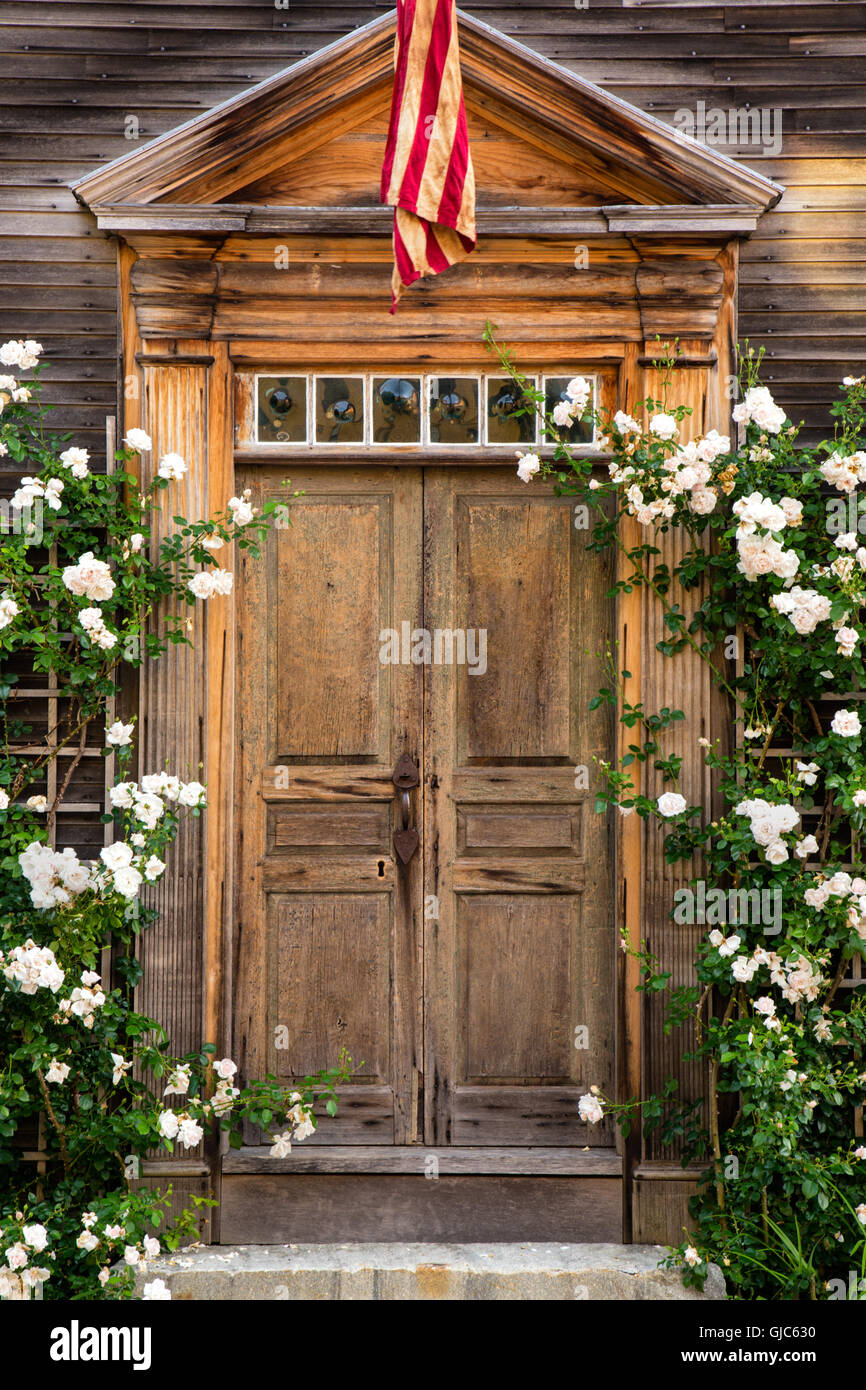 Old Door in Portsmouth, New Hampshire - Stock Image
