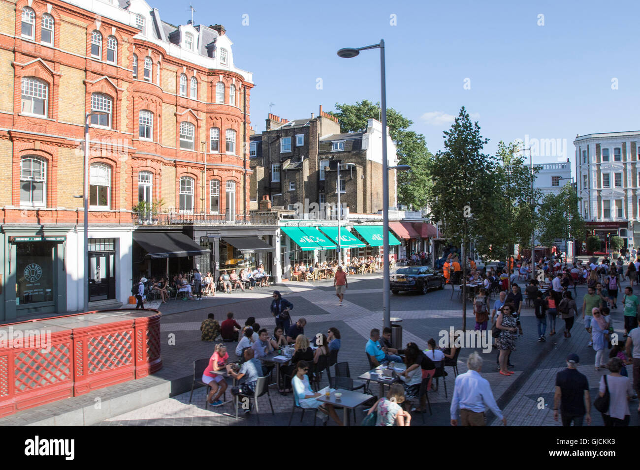 Exhibition Road in the Royal Borough of Kensington and Chelsea and the City of Westminster Greater Central London Stock Photo