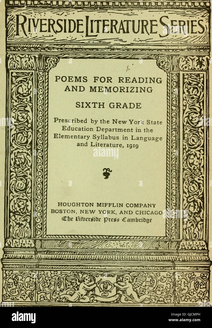 Poems For Reading And Memorizing First Eighth Grades 1919 Stock