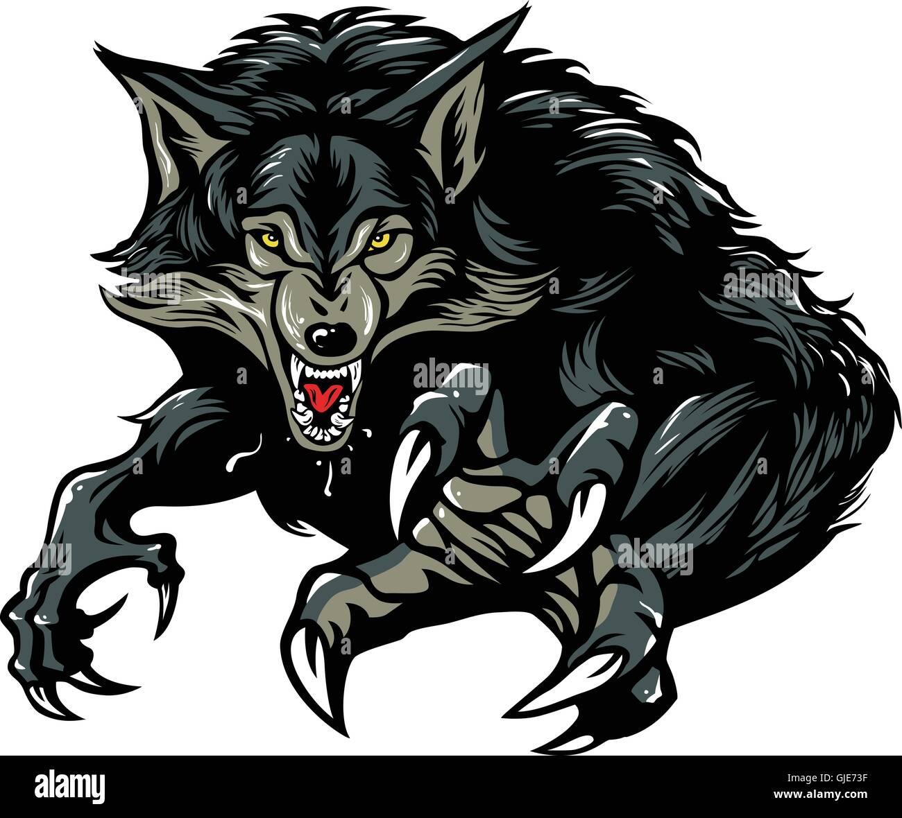 Werewolf Vector Illustration Character Design Stock Vector Image & Art - Alamy