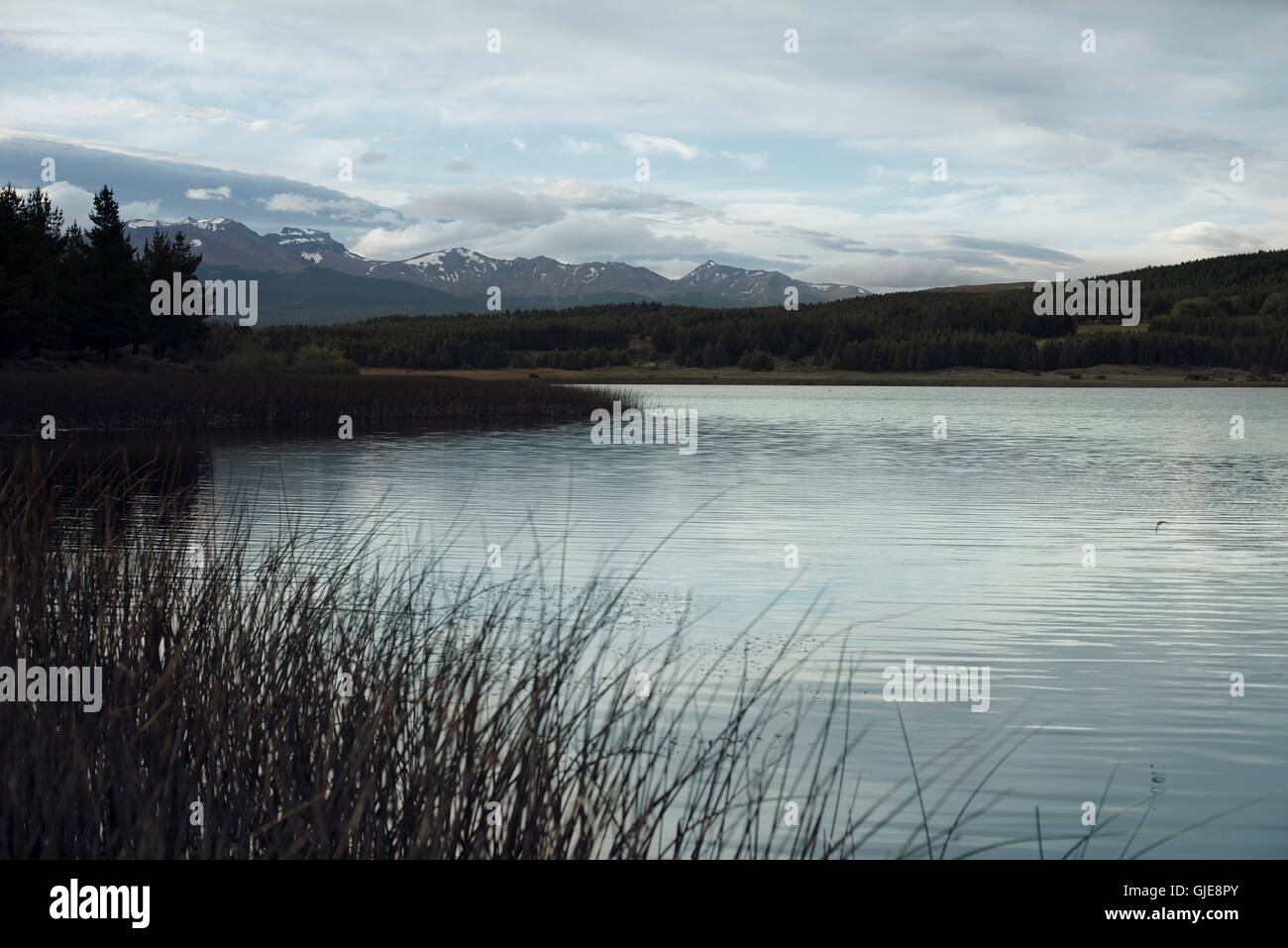 Lake in Esquel Patagonia Argentina - Stock Image