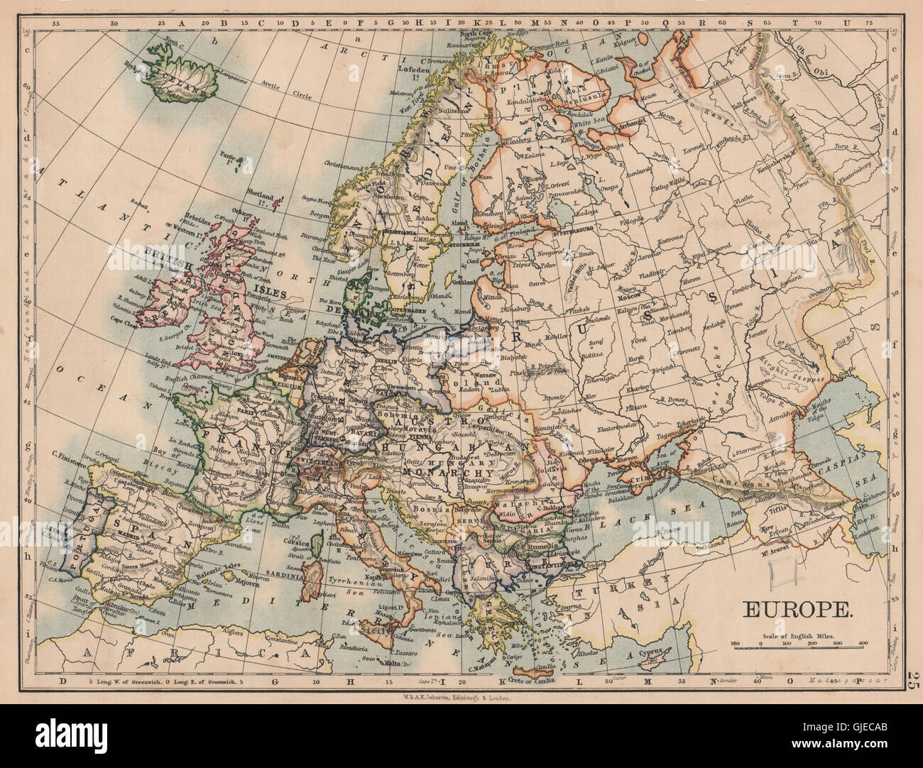 Picture of: Europe Political Austria Hungary United Sweden Norway Johnston Stock Photo Alamy