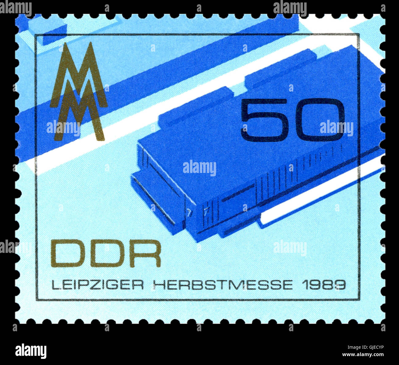 Stamps of Germany (DDR) 1989, MiNr 3267 Stock Photo
