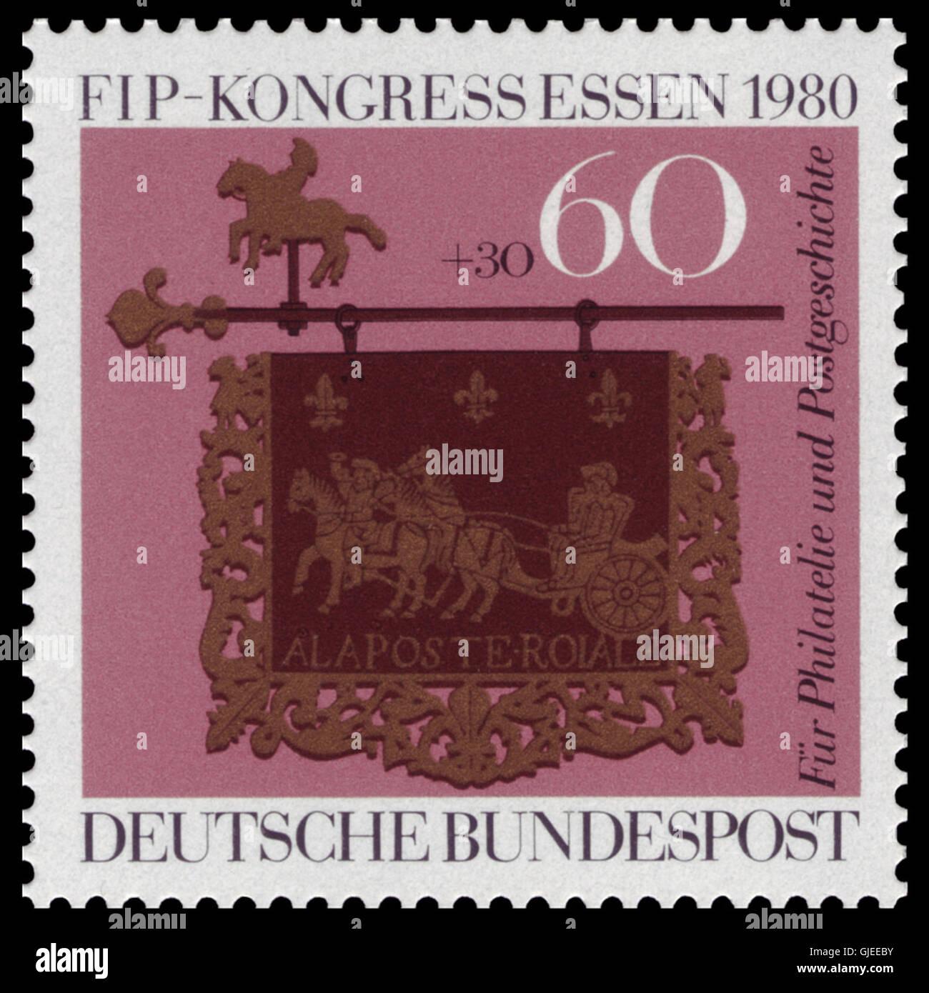 DBP 1980 1065 FIP-Kongress für Philatelie und Postgeschichte Stock Photo
