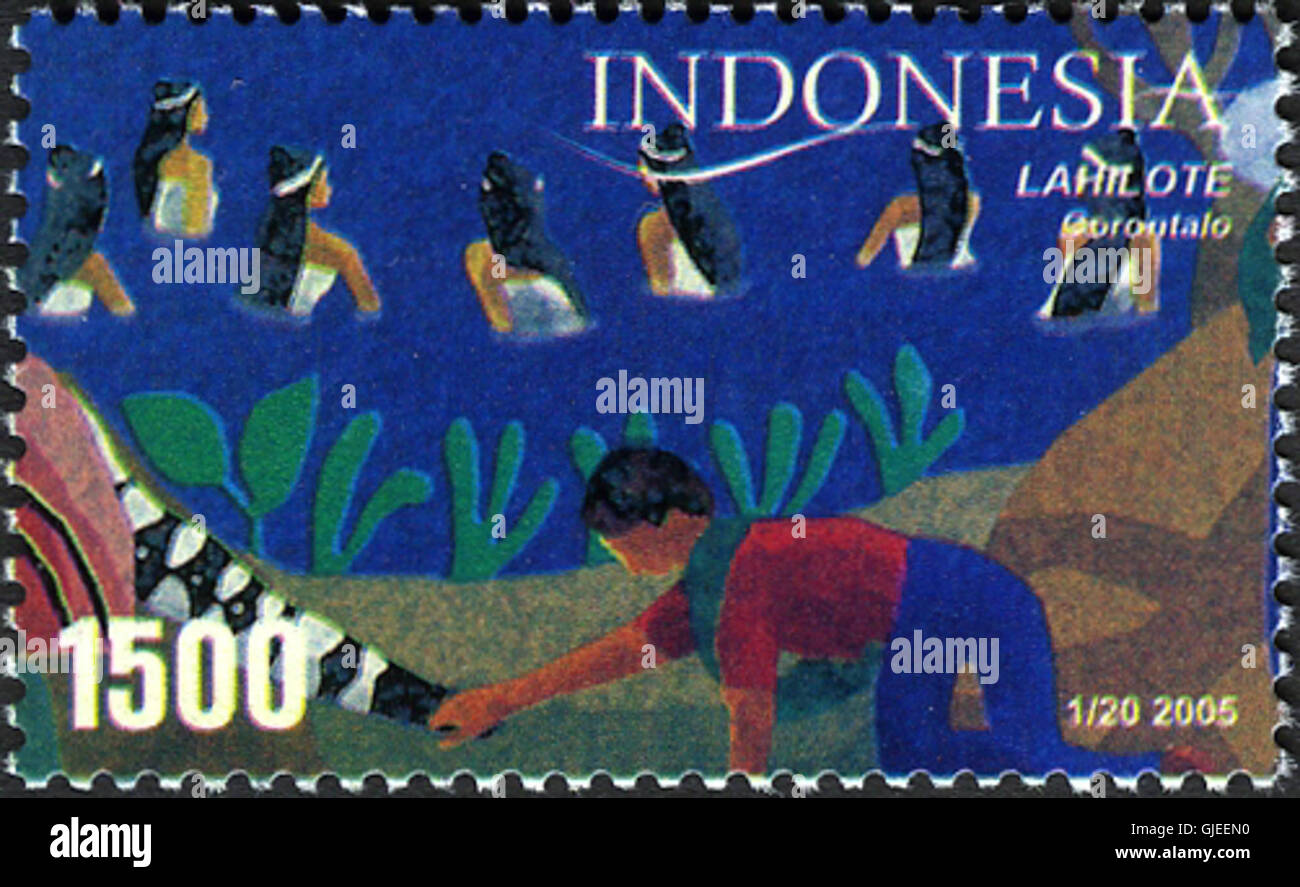 Stamps of Indonesia, 001-05 - Stock Image