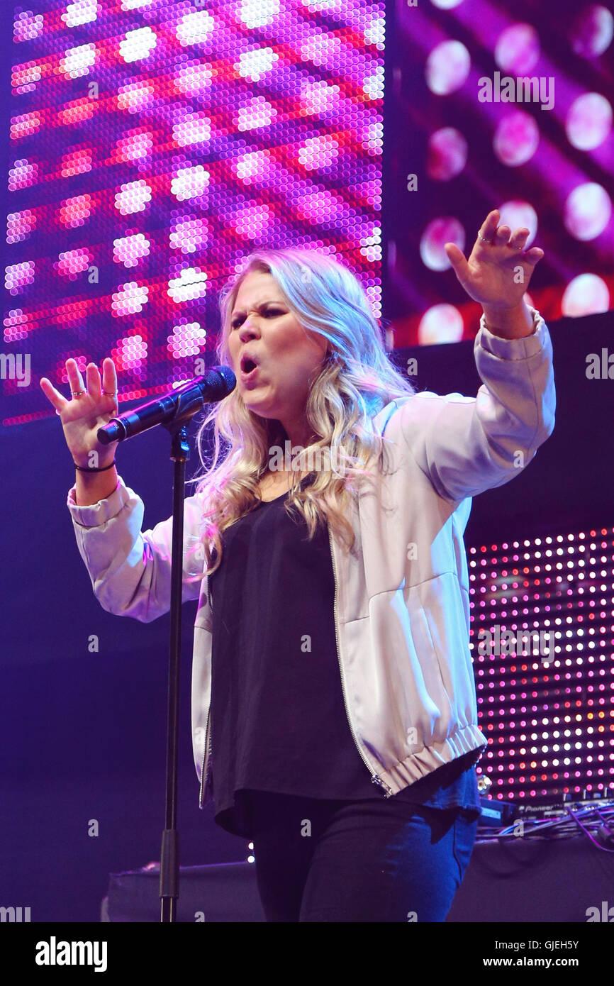 Grace at Key 103 Summer Live. - Stock Image
