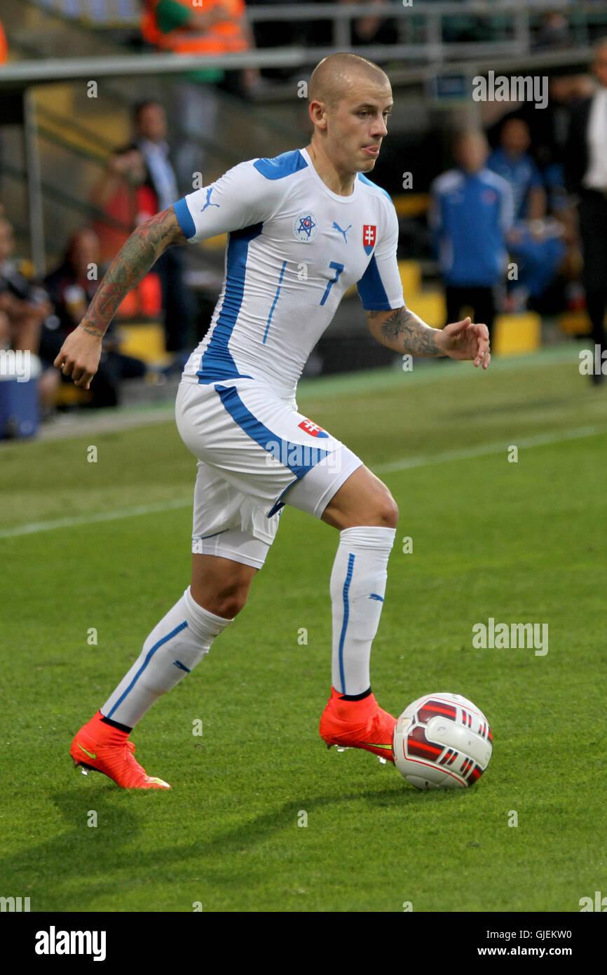 Slovakia's Vladimir Weiss during the friendly football match Slovakia vs Malta 1-0. - Stock Image