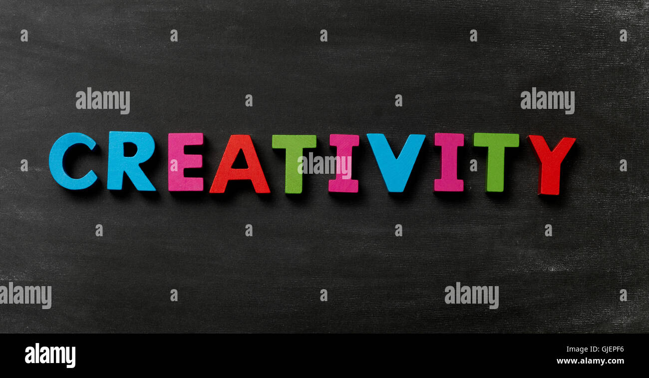 Blackboard with Creativity - Stock Image