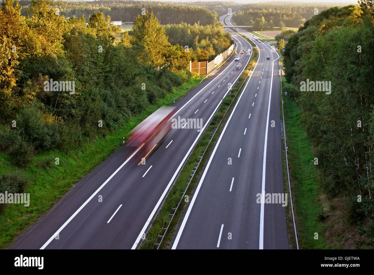drive travel traffic Stock Photo