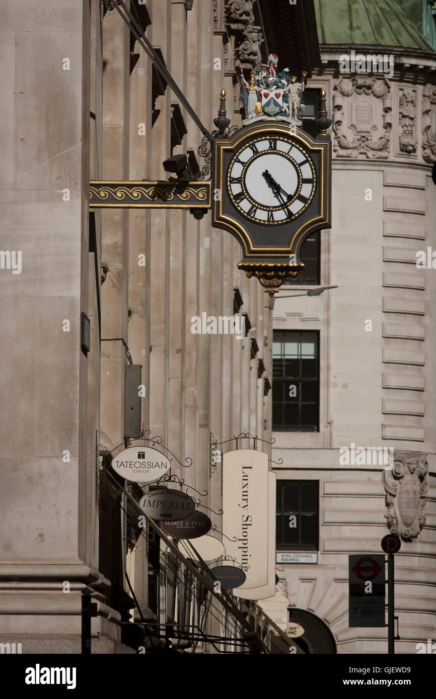 3rd Royal Exchange was built in 1842 by Sir William Tite. - Stock Image