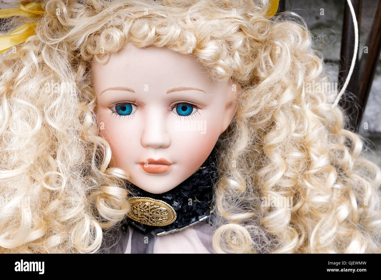 80c6a8a2d7a681 Doll with blonde hair and blue eyes in Tideswell Peak district Derbyshire