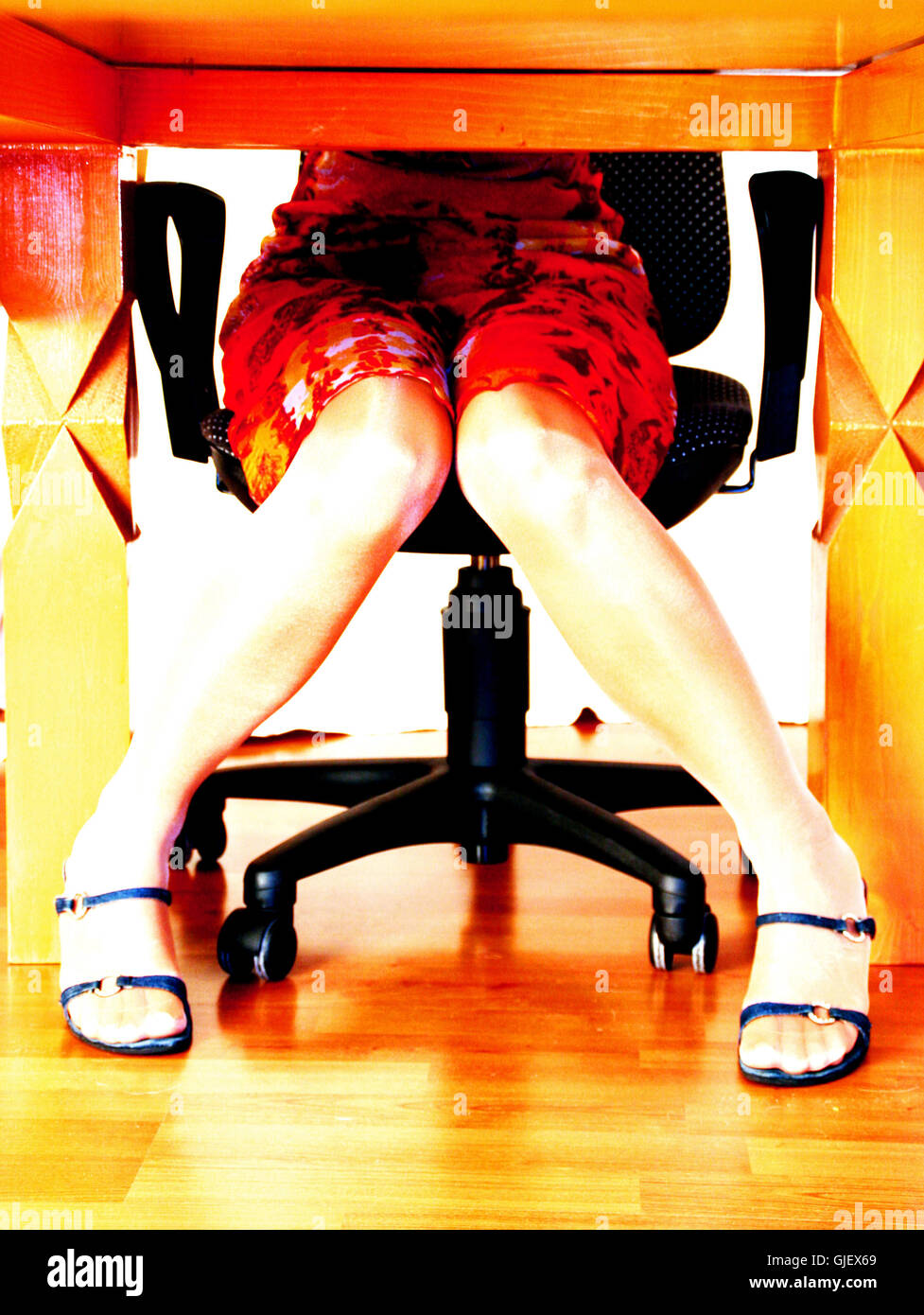 restless legs 02 - Stock Image