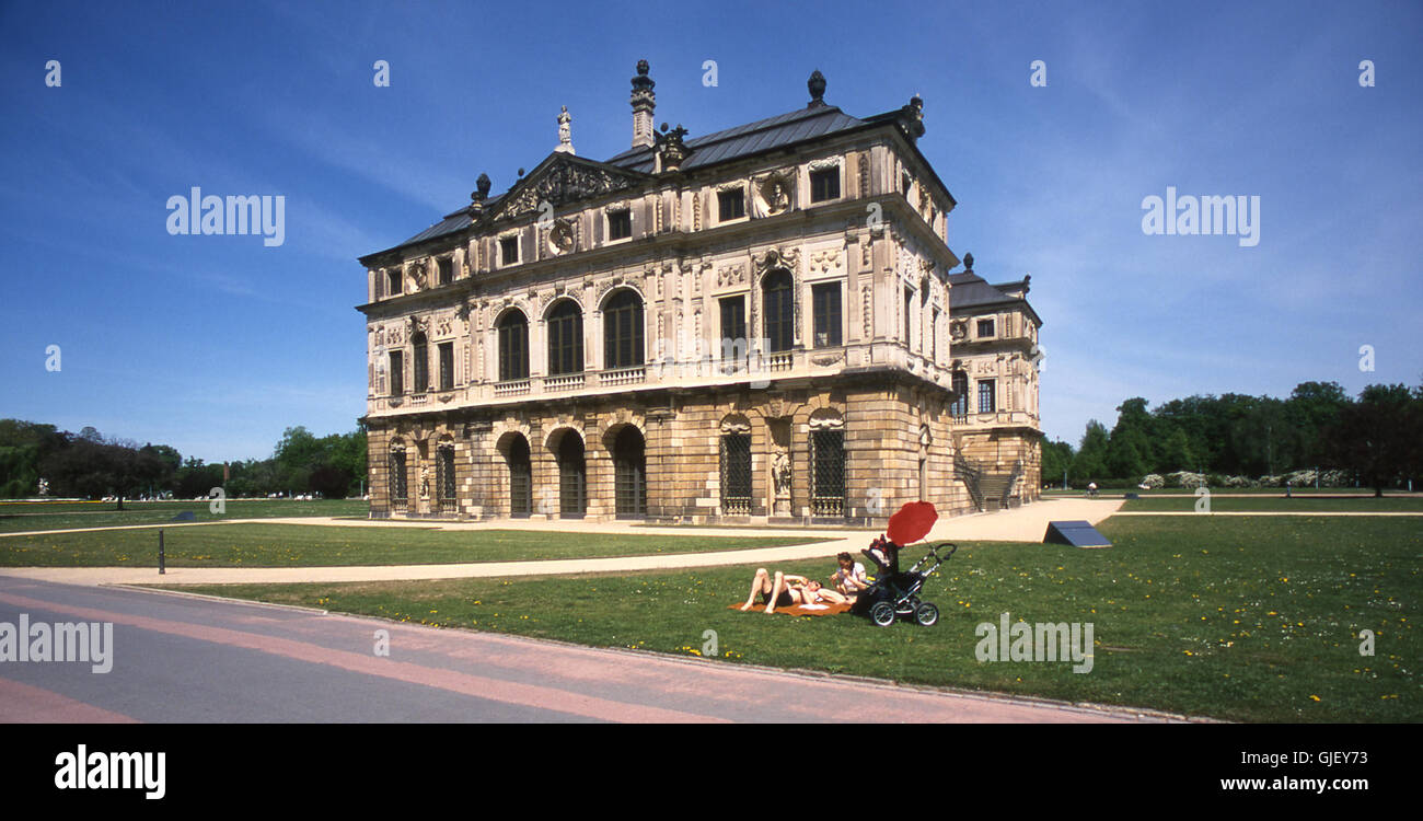 Palais In The Large Garden Stock Photo Alamy