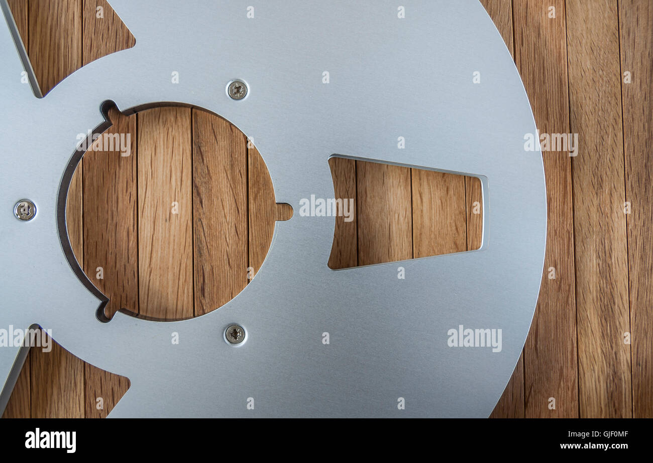 Open metal reel for tape - Stock Image