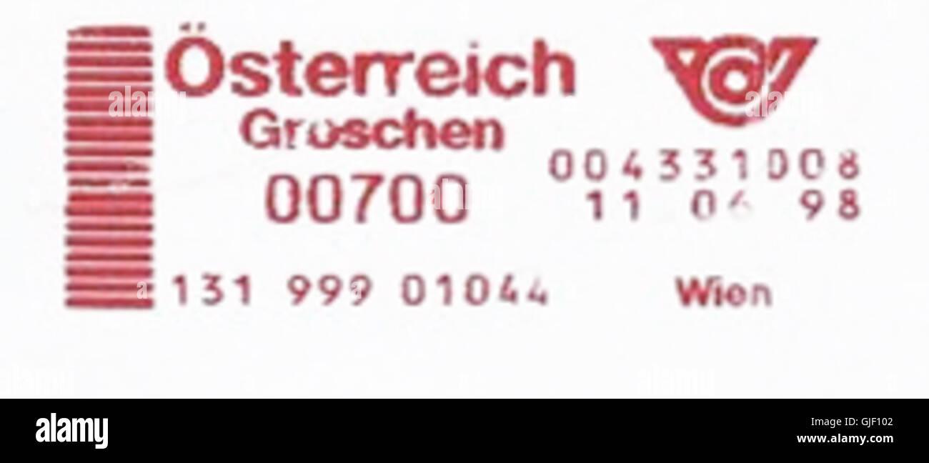 Austria stamp type G1 - Stock Image