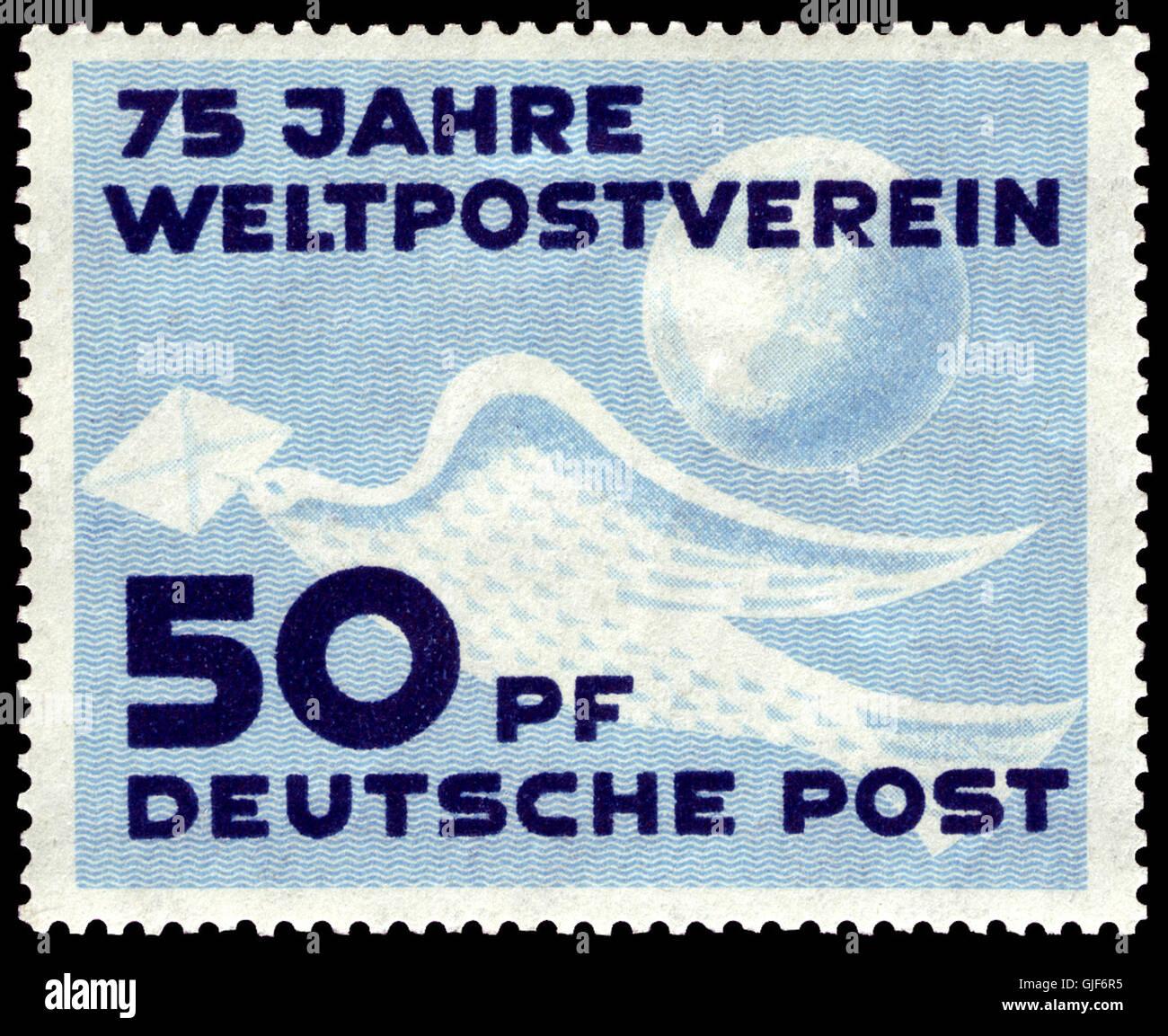 DDR 1949 242 75 Jahre Weltpostverein Stock Photo