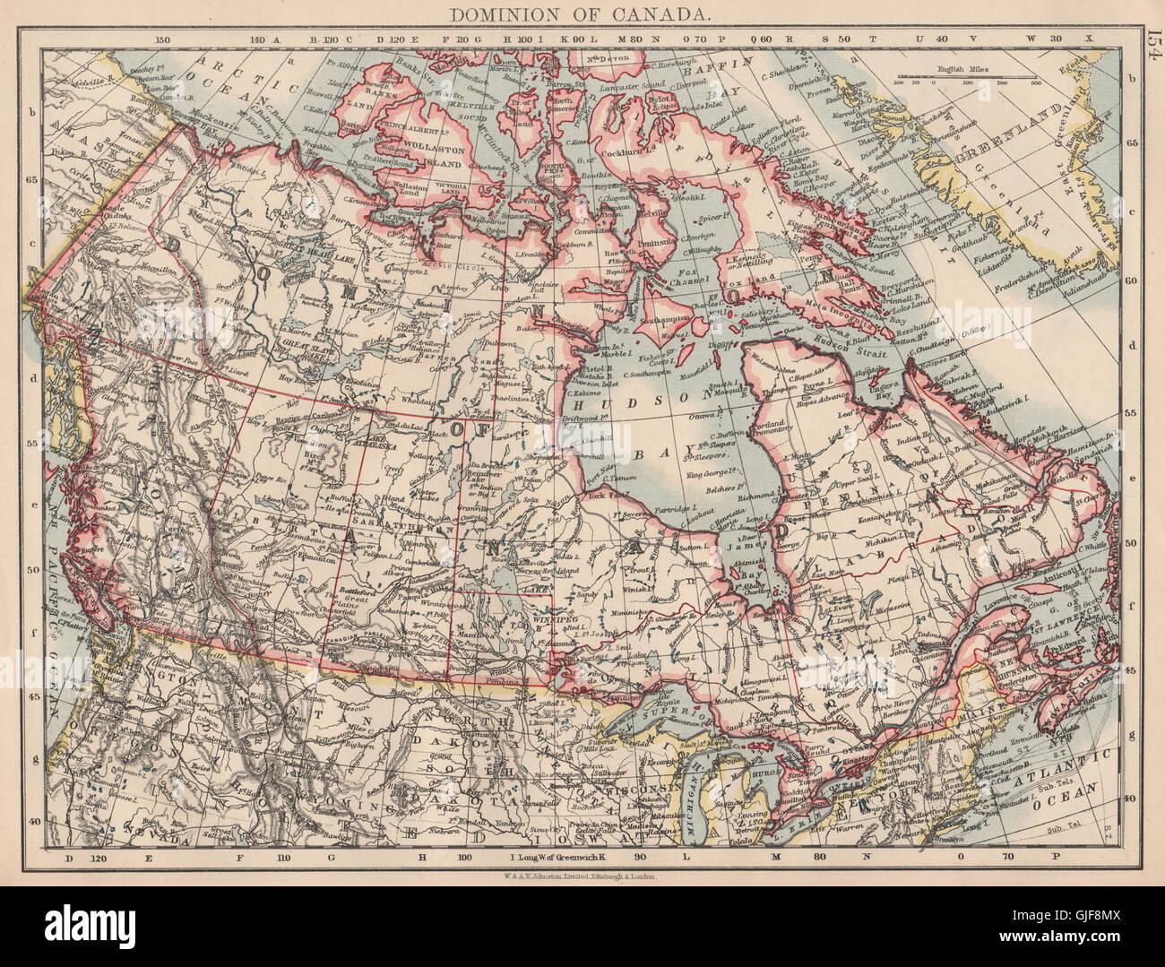 british north america colonial canada canadian pacific railroad 1906 map