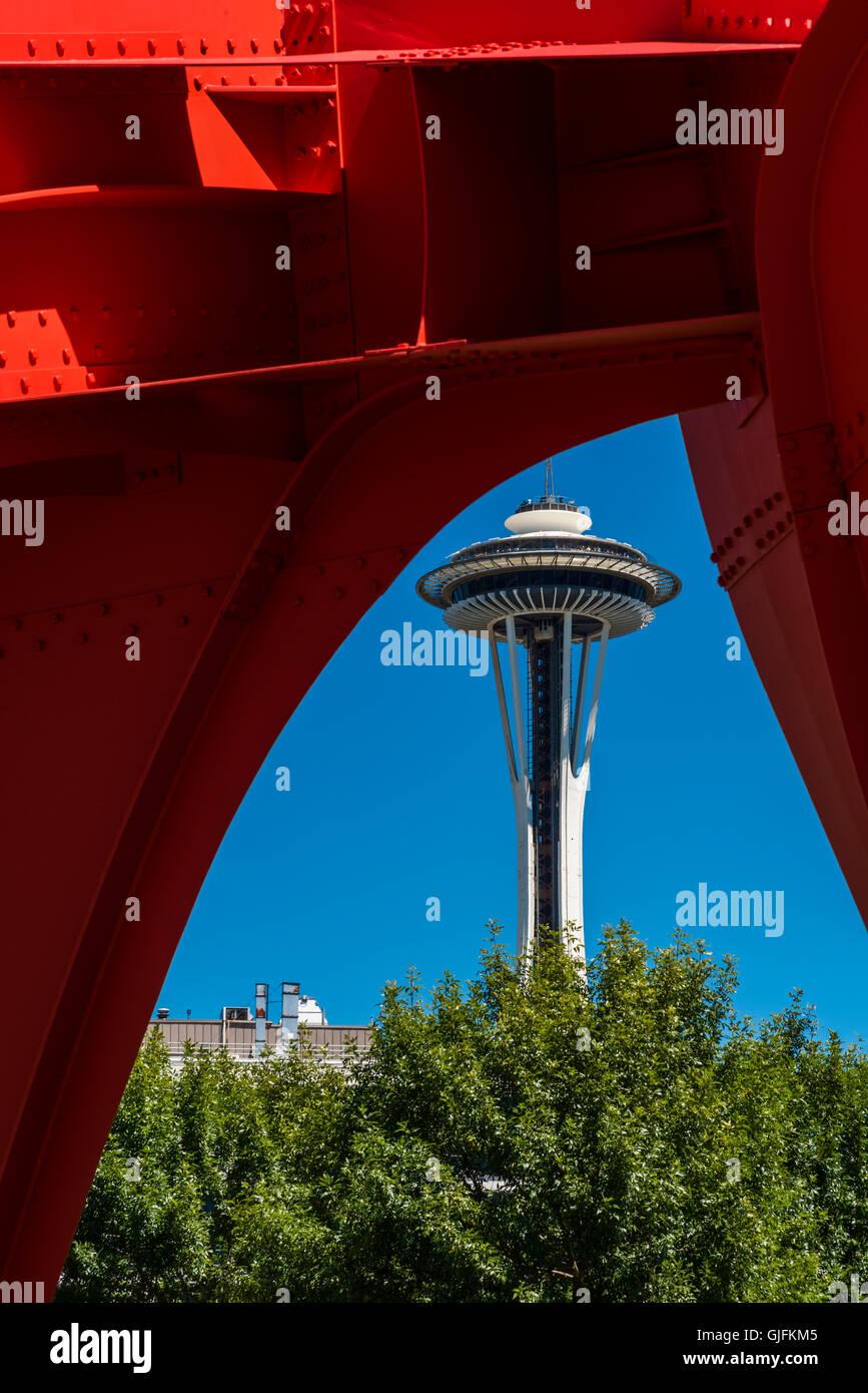 The Space Needle, Seattle, Washington, USA - Stock Image
