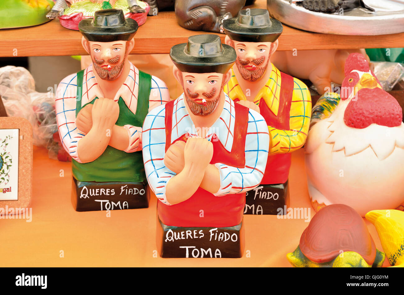 Portugal, Barcelos: Portuguese popular figure representing in an ironic way  the everyman - Stock Image