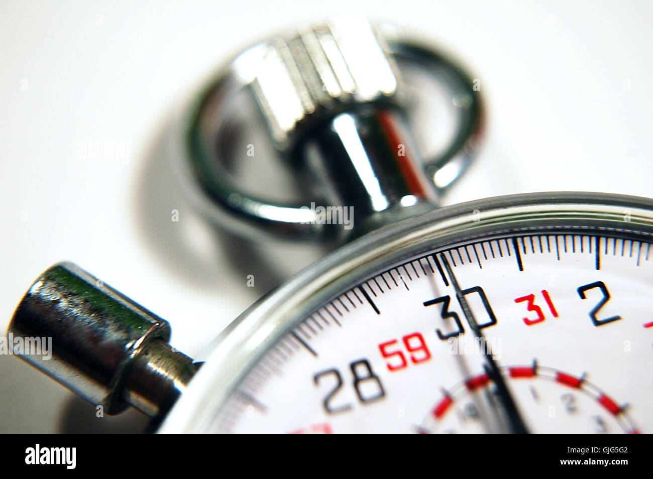 stopwatch macro - Stock Image