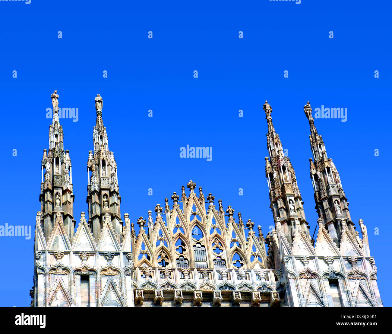 partial view of the duomo in milan - Stock Image