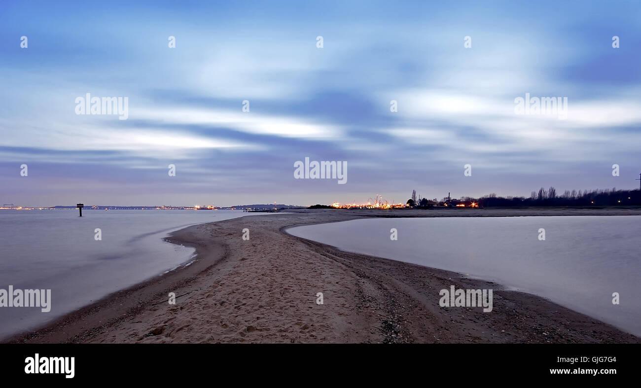 sandy beach - Stock Image
