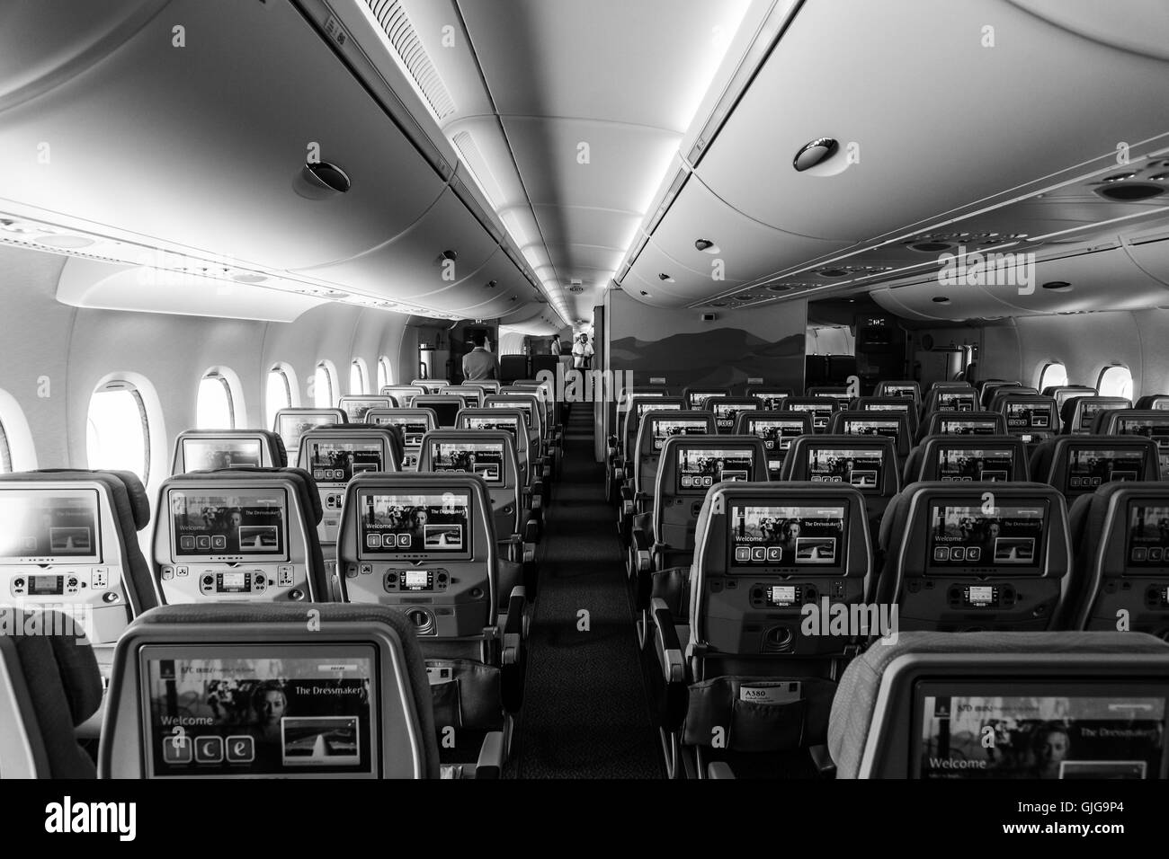 Airbus a380 interior stock photos airbus a380 interior for Airbus a380 emirates interior