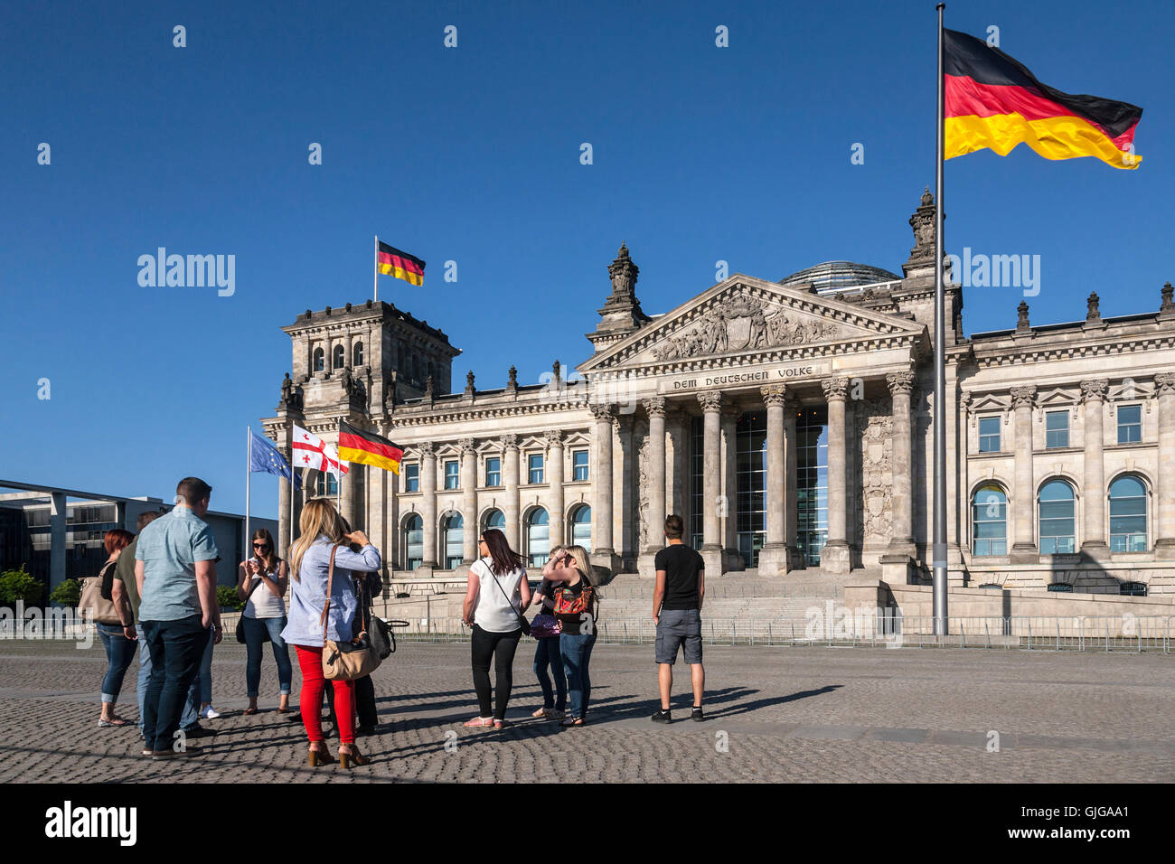 The Reichstag (Bundestag) German parliament building, Mitte, Berlin, Germany. - Stock Image