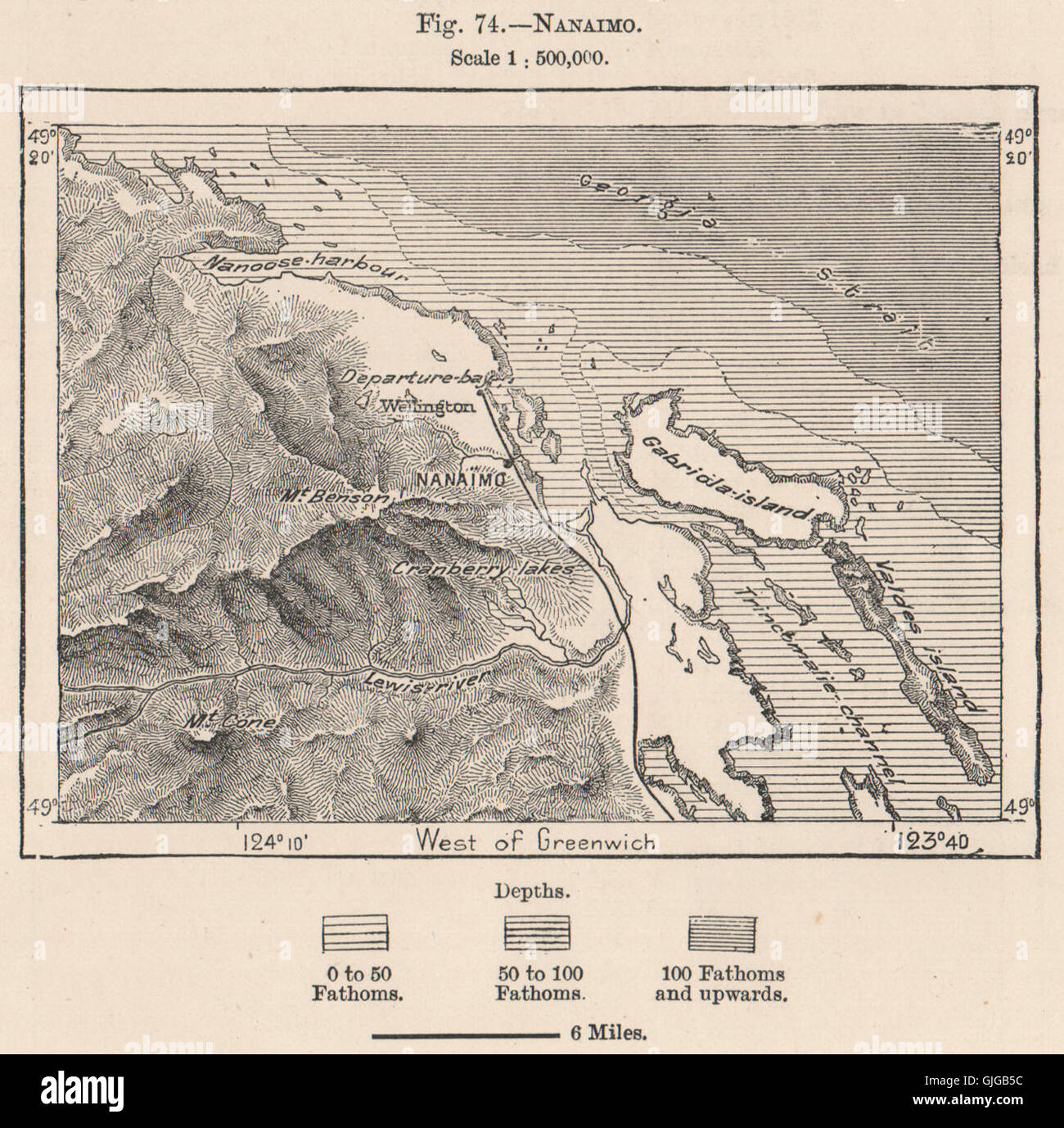 Nanaimo Canada Vintage Map Vintage Map Of Vancouver High Resolution Stock Photography and