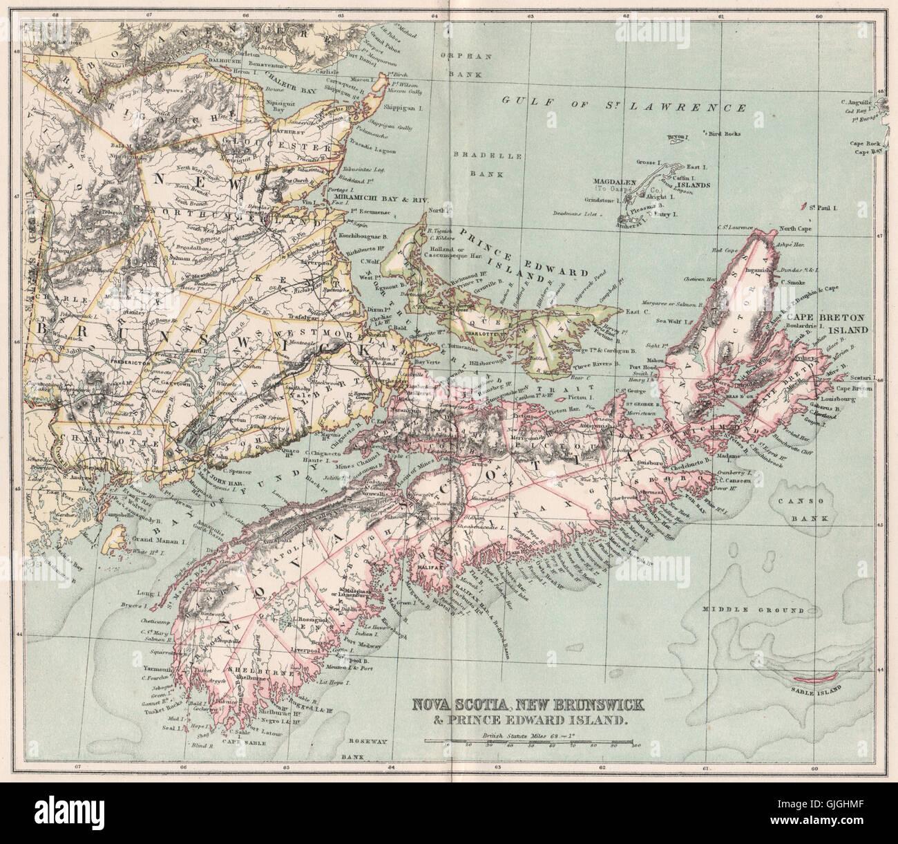 Nova Scotia New Brunswick Prince Edward Island Canada