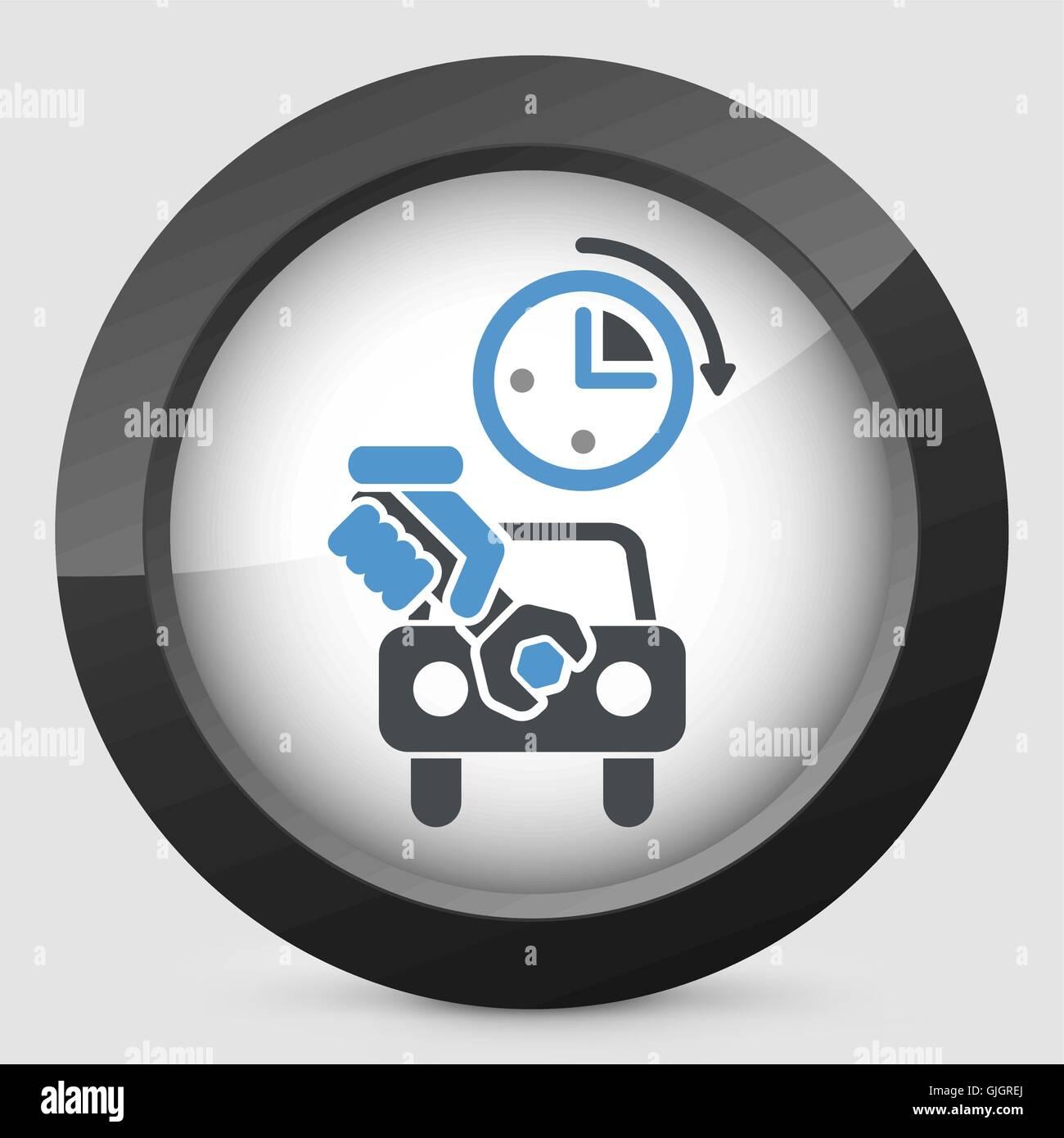 Fast car repair - Stock Vector