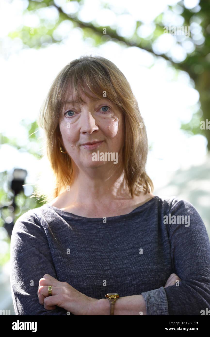 Edinburgh, Scotland. 16th August 2016.  Sharon Blackie, novelist and storyteller at Edinburgh International Book - Stock Image