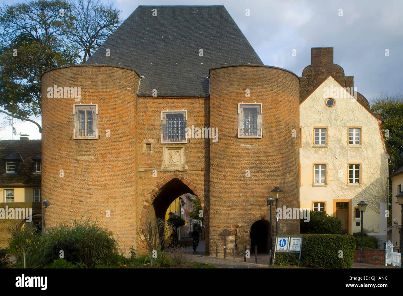 BRD, Deutschland, NRW, Bergheim, das Aachener Tor das, Wahrzeichen der Stadt Bergheim. Es diente im Mittelalter - Stock Image