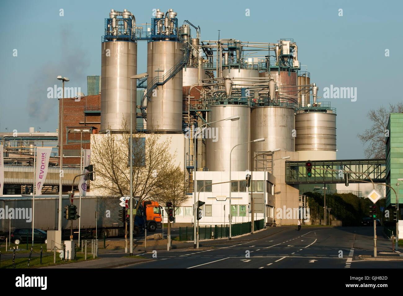 Deutschland, Nordrhein-Westfalen, Wesseling bei Köln, Evonik Degussa, ein Unternehmen der Evonik Industries - Stock Image