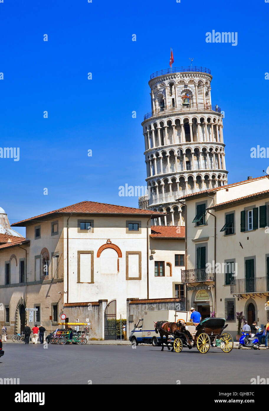 tower old town skew - Stock Image