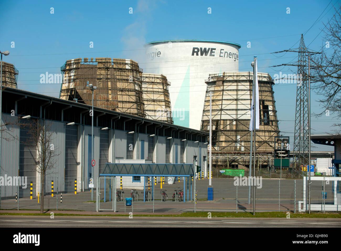 Deutschland, Nordrhein-Westfalen, Kreis Bergheim, Hürth, Knapsack, RWE Kraftwerk Goldenberg. Stock Photo