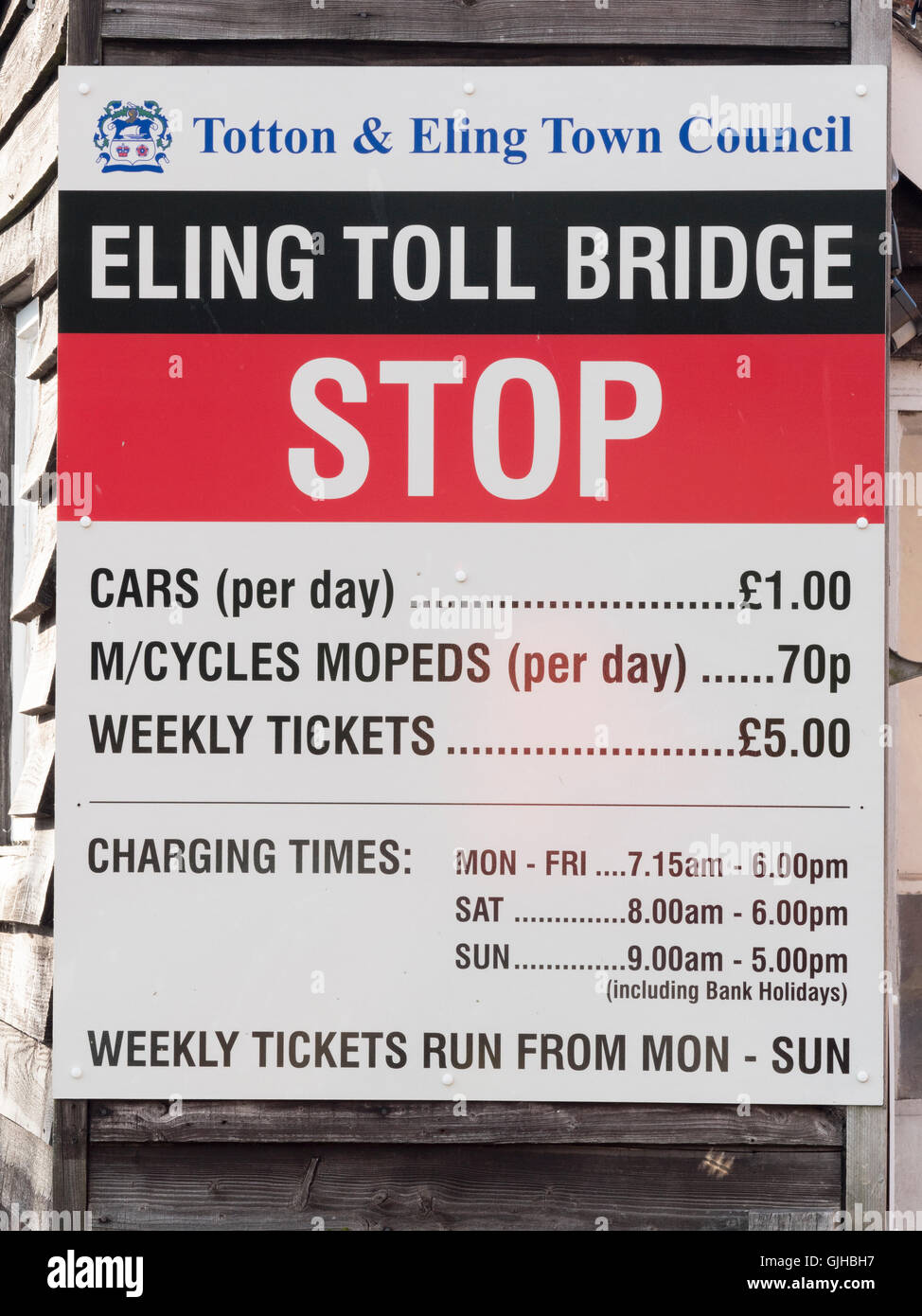 Eling toll bridge car park