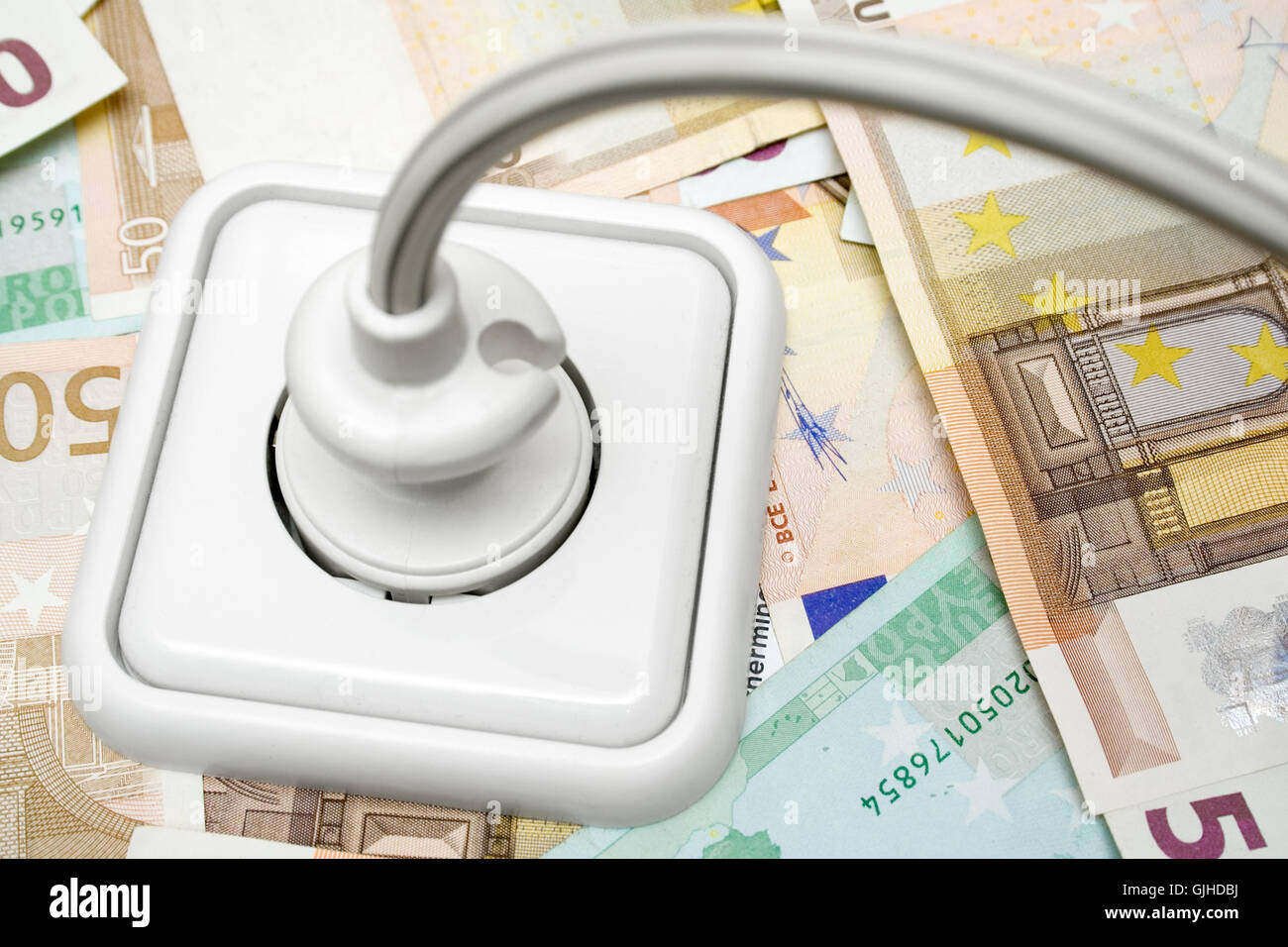 electricity costs - Stock Image