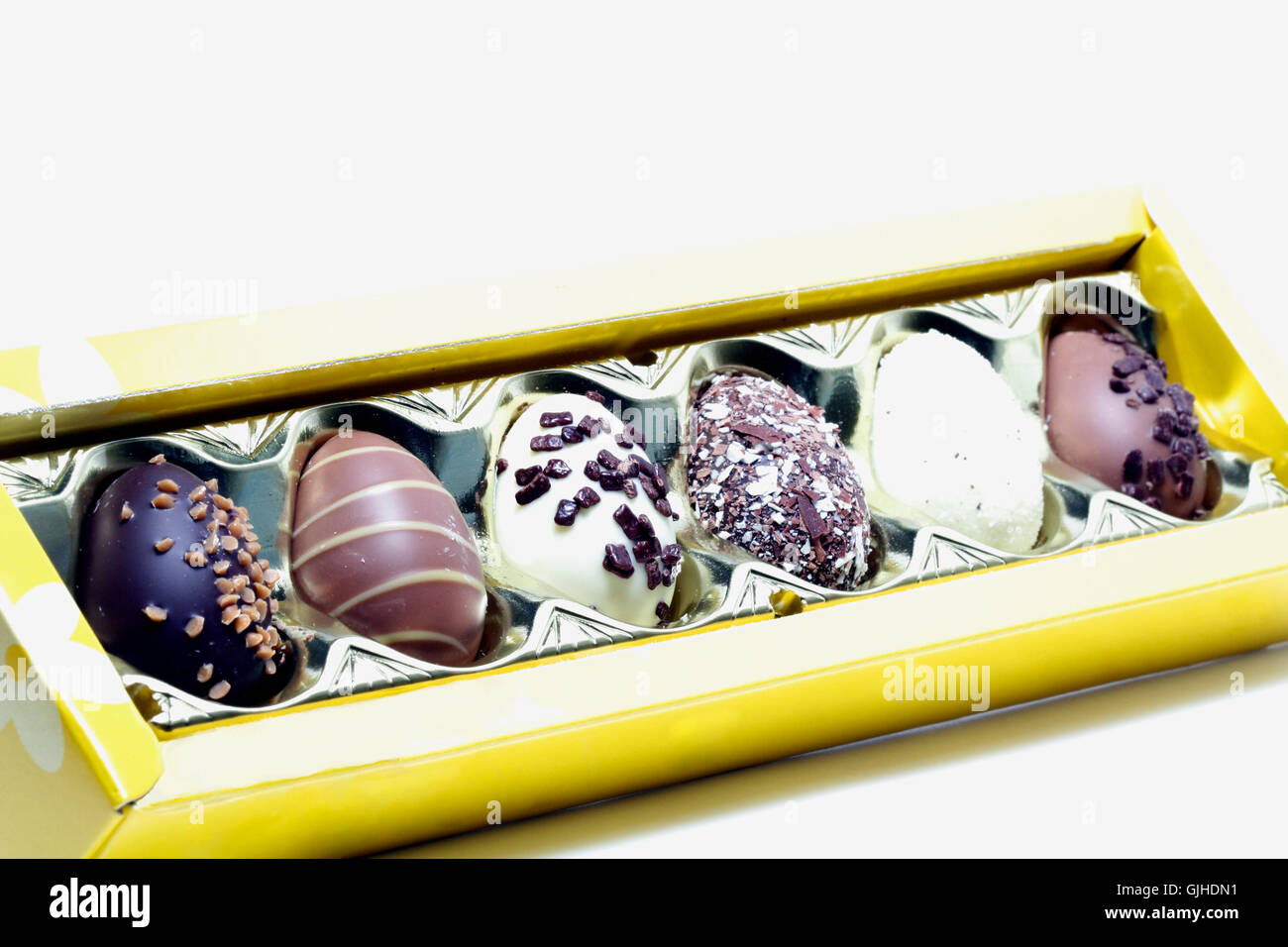 chocolates diagonally - Stock Image